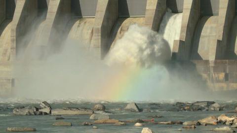 Hydro electric dam spillway m 07 Footage