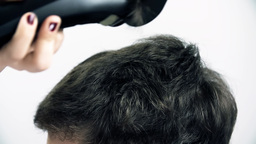 SLOW MOV: Short Hair Cut stock footage