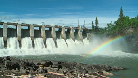 Hydro Dam with Rainbow ws 02 Live Action