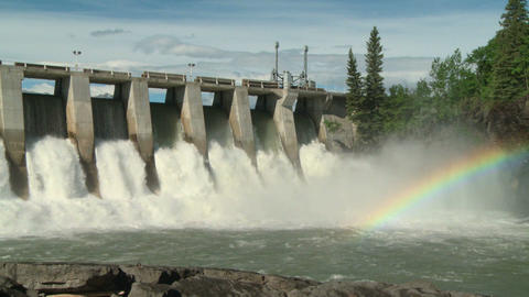 Hydro Dam with Rainbow pan right Live Action