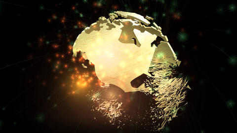 Digital animation of a rotating Earth Globe Animation