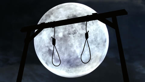 Gallows with the moon in the background Animation