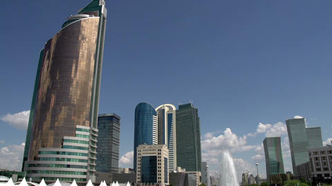 Kazakhstans Capital Astana stock footage