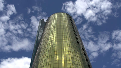 Gold Financial Tower HD Footage