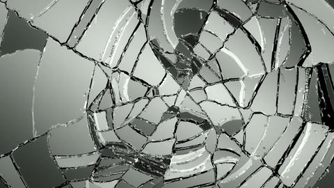 Glass break and shatter with slow motion. Alpha Animation