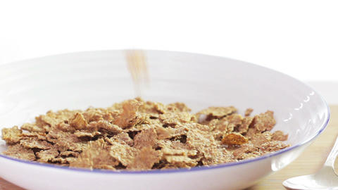Cereal Pour stock footage