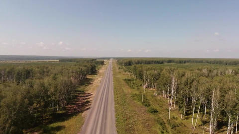 Flying Over The Road stock footage