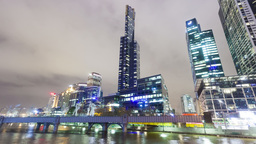 4k hyperlapse video of the skyscrapers in the Sout Footage