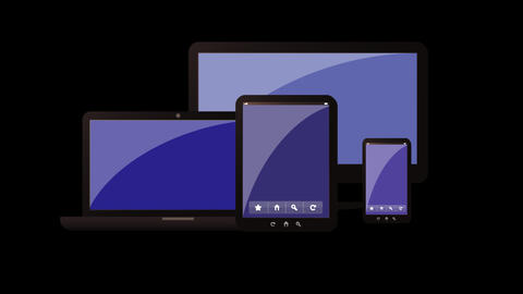 devices, laptop,phone,tablet animation alpha Animation