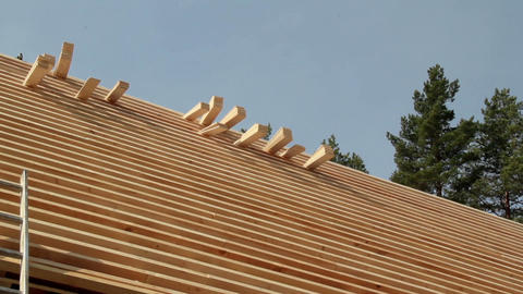 Piled Cedar wooden shingles roof roofing roofworki Live Action