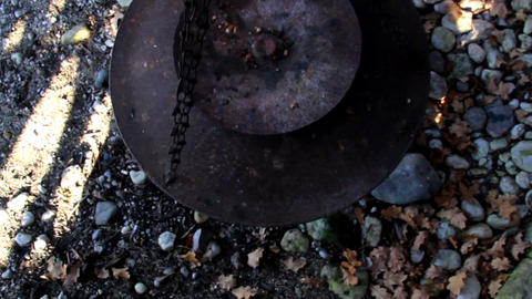Overhead View Of The Hanging Pot stock footage