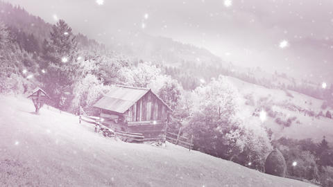 3New Year,christmas,3d Winter Background,time-laps stock footage