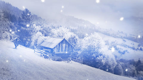 New Year,christmas,3d winter background,time-lapse Footage