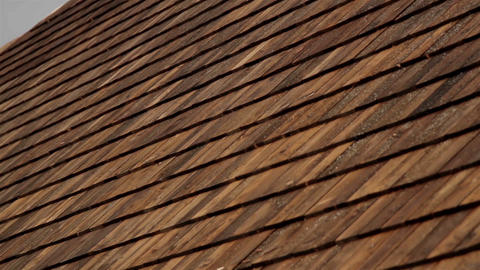 Closer image Cedar wooden shingles roof roofing ro Live Action
