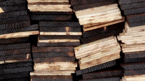 Cedar Wooden Shingles Roof Roofing Pine Tar Column stock footage