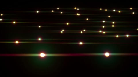 Moving light spots with lens flare effect loopable Animation