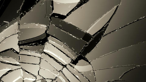 Glass broken or shattered slow motion. Alpha Animation
