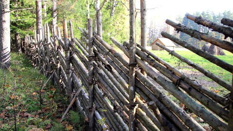 Fence made out of wood Footage