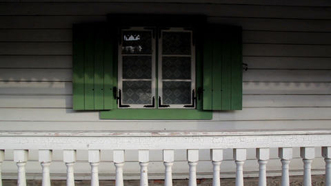 Green Windows And White Walls stock footage