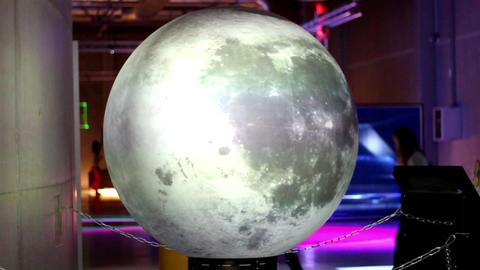 Miniature Moon On Display stock footage