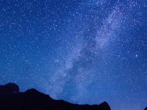 Milky Way hides dawn. Time Lapse. 640x480 Footage