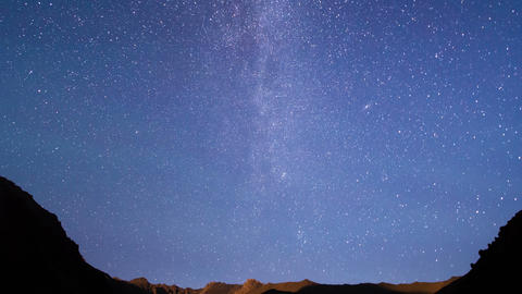 Milky Way is far off. Time Lapse. 4K Footage