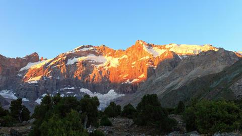 Mountains in the morning. Time Lapse, Pamir, Tajik Footage