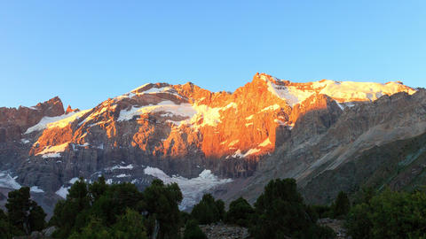 Mountains in the morning sun. Time Lapse, Pamir, T Footage