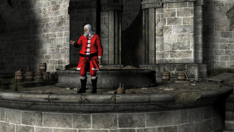 Santa's Castle Zoom In Footage