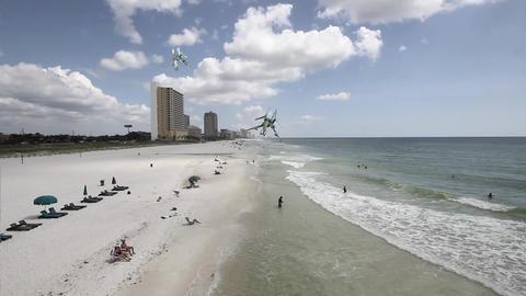 Incoming Space Crafts at Florida Coastal Beach Footage