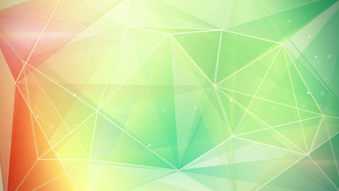 abstract triangle geometrical green orange backgro Animation