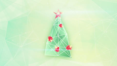 christmas tree triangles shape loop Animation