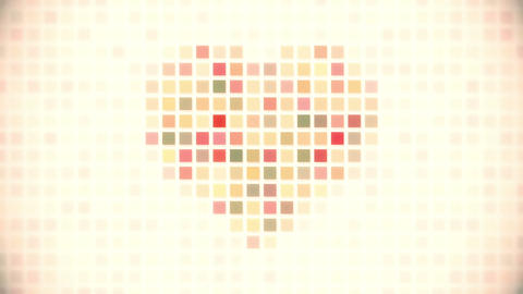 Pixel Heart Seamless Loop Animation stock footage
