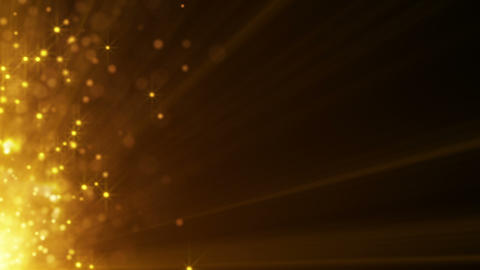 flying gold particles seamless loop background Animation