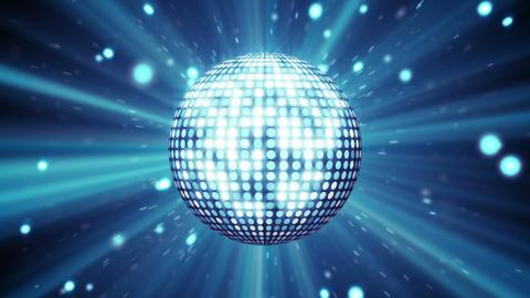 blue disco ball shining seamless loop Animation