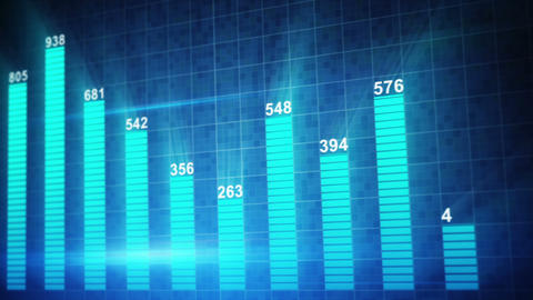 Modern Staticstic Graph Chart Seamless Loop Animat stock footage