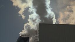 HD2009-3-2-14 steam stack industry steam block sun Footage