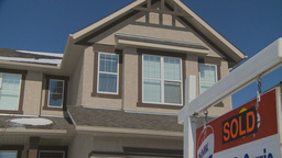 HD2009-3-2-22 sold sign home Stock Video Footage