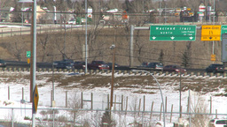 HD2009-3-2-24 freeway traffic Stock Video Footage