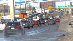 HD2009-3-2-32 traffic on Mcleod trail TL Stock Video Footage