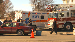 HD2009-3-2-34 ambulance and fire truck accident Footage