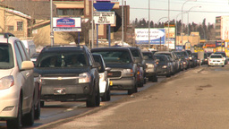 HD2009-3-2-36 heavy traffic backed up Stock Video Footage
