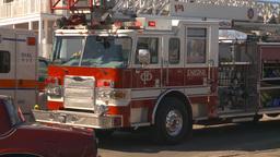 HD2009-3-2-38 ambulance and fire truck Stock Video Footage