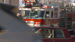 HD2009-3-2-40 and fire truck accident Stock Video Footage