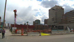 HD2009-5-1-2 abandoned condo const site Stock Video Footage