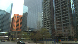 HD2009-5-1-6 traffic to skyscraper Stock Video Footage