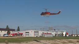 HD2009-5-1-20 huey hover hangar Stock Video Footage