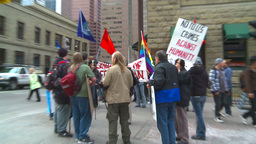 HD2009-5-1-22 Conda protest Stock Video Footage