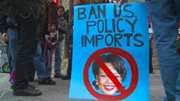 HD2009-5-1-22 Conda protest Stock Video Footage