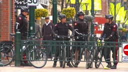 HD2009-5-1-24 bike cops Stock Video Footage